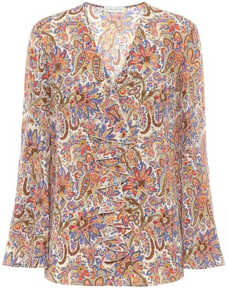 Etro Paisley silk-crepe blouse
