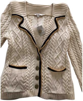 Maje Beige Cotton Knitwear for Women