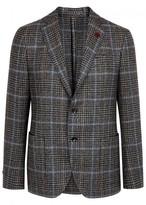 Lardini Grey Checked Wool Blazer