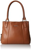 Calvin Klein Pebble Leather Satchel Shoulder Handbag