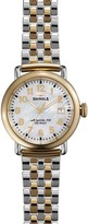Shinola The Runwell Two Tone Mother of Pearl Dial Watch, 36mm