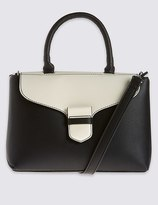Marks and Spencer Faux Leather Mini Grab Tote Bag