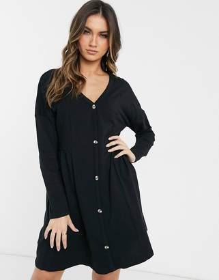 Asos Design DESIGN smock dress in black
