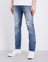 Levi's 501 distressed skinny-fit mid-rise jeans