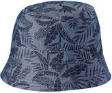 Joe Fresh Kid Boys' All Over Print Sun Hat, Dark Wash (Size S/M)