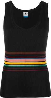 M Missoni Striped-Waist Ribbed Tank Top