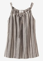 Toast Ticking Stripe Linen Drawstring Top