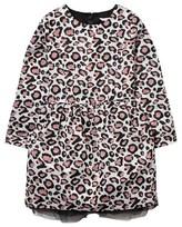 Little Marc Jacobs Leopard Print Jacquard Dress with Headband