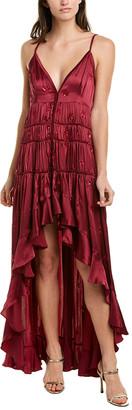 Rococo Sand Gathered Silk Maxi Dress