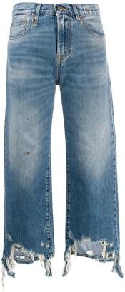 R 13 Frayed Edge Jeans