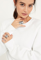 Missguided Silver Chunky Statement Two Pack Rings