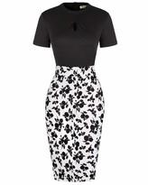 Moyabo Womens Midi Dresses Short Sleeve Business Office Work FormalChurch Dress Black XX-Large