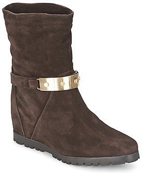 Alberto Gozzi VELOUR PEPE women's Low Ankle Boots in Brown
