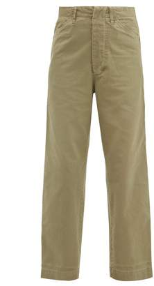 Chimala Wide-leg Cotton Trousers - Womens - Khaki