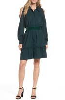 Eliza J Petite Women's Cold Shoulder Shirtdress