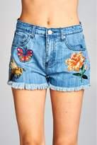 Velzera Patch Accent Denim Shorts