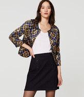 LOFT Petite Shimmer Mosaic Jacket