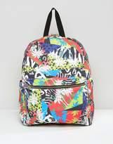 Asos 80's Tropical Print Printed Backpack