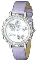 GUESS GUESS? U0302L2 35mm Stainless Steel Case Purple Leather Mineral Women's Watch