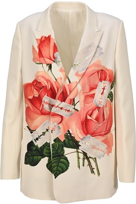 Undercover Rose And Razor Printed Blazer