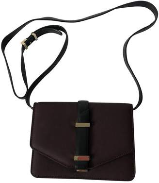 Victoria Beckham Mini Victoria Bag Burgundy Leather Handbags