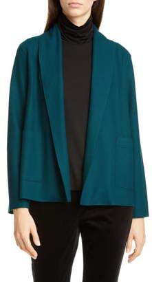 Eileen Fisher Shawl Collar Short Wool Jacket
