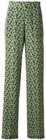 Etro floral print flared trousers - women - Silk - 38