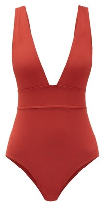Eres Pigment V-neck Swimsuit - Red