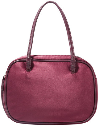 Elizabeth and James Dorina Leather-trimmed Satin Tote