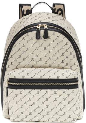 Stella McCartney Logo canvas backpack