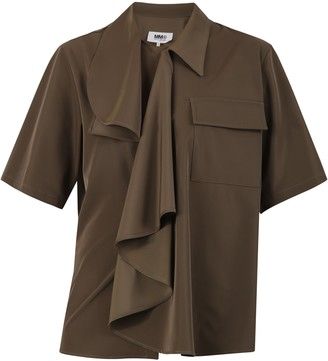 MM6 MAISON MARGIELA Ruffle Shirt Top