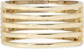 KJL BY KENNETH JAY LANE KJL by KENNETH JAY LANE Gold-Tone 5-Row Hinged Cuff Bracelet