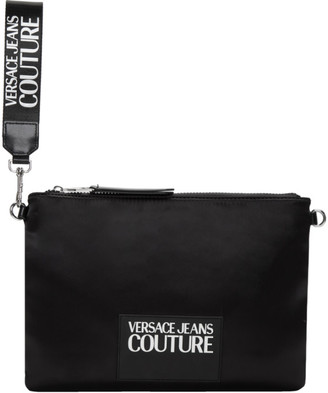 Versace Black Logo Pouch