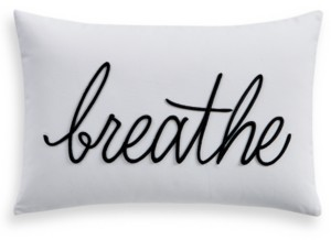 "Charter Club Closeout! Damask Designs Word 12"" x 18"" Decorative Pillow, Created for Macy's Bedding"