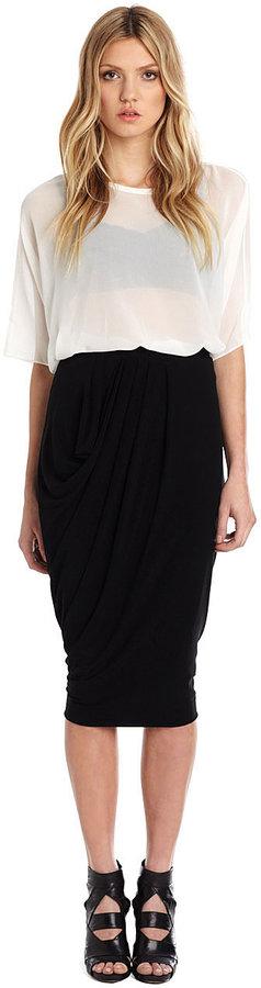 Nicole Miller Stretchy Matte Jersey Midi Skirt