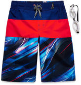 ZeroXposur Boys Pattern Swim Trunks-Big Kid