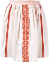 Manoush embroidered mini skirt - women - Cotton - 36