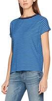 Tommy Hilfiger Women's Thdw Stripe BN Knit S/S 21 T-Shirt,(Manufacturer Size: Large)