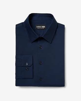 Express Extra Slim Solid Stretch Cotton 1Mx Dress Shirt