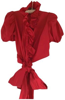 ALEXACHUNG Alexa Chung Red Cotton Tops
