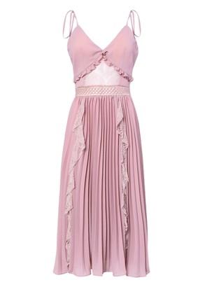True Decadence Dusty Pink Crepe Cami Pleated Midi Dress
