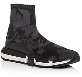 Diesel Men's H-Padola Camo Knit High-Top Sneakers
