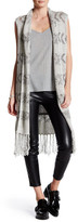 BB Dakota Zara Fringe Dropstitch Vest