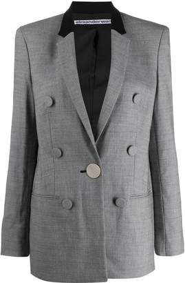 Alexander Wang fitted houndstooth blazer