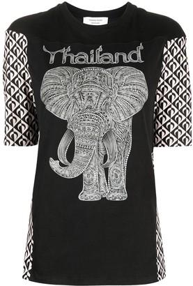 Marine Serre Thailand elephant graphic T-shirt