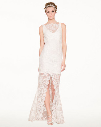 Le Château Beaded Lace Illusion Gown