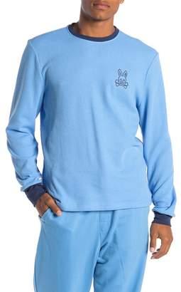 Psycho Bunny Waffle Knit Bunny Lounge Long Sleeve Shirt