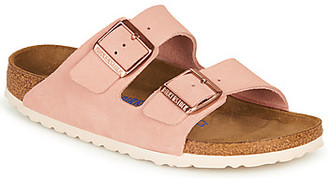 Birkenstock ARIZONA SFB LEATHER women's Mules / Casual Shoes in Pink