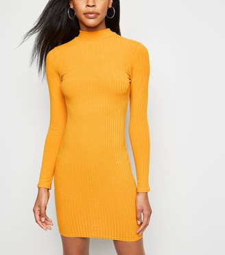 New Look High Neck Ribbed Bodycon Dress