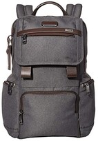 Tumi Alpha 3 Flap Backpack (Anthracite) Backpack Bags